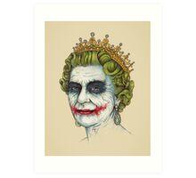 God Save the Villain Art Print