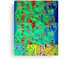 Quilled Paper Collage Canvas Print