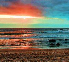 Pfeiffer Beach, Big Sur Sunset by GreenSaint