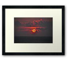 Sunset time Framed Print