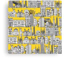 New York yellow Canvas Print