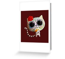 White Cat of The Dead Greeting Card