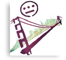Stencil Golden Gate San Francisco Outline Canvas Print