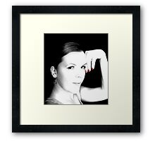 Black & White with touch of Red Framed Print