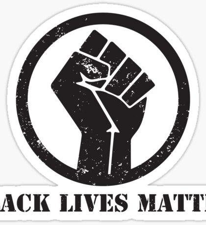 BLACK LIVES MATTER BLACK POWER FIST Sticker