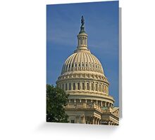 Capitol Building Dome in the Morning Sunlight Greeting Card