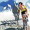 Vintage Retro Style Graphic Illustration Print Original : Tour De France Legend Hinault and Map by SFDesignstudio
