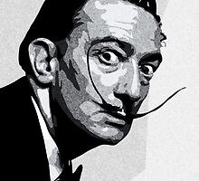 Salvador Dali Black Portrait by amillusions