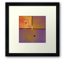 13 14 15 Colorful Rust Gold Purple Framed Print