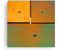 16 17 18 Colorful Rust Orange Green Canvas Print