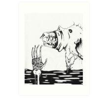 Discharging The Monster Art Print