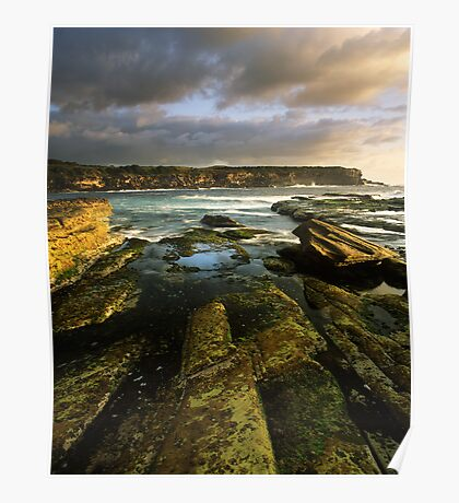 """""""Cliff to Cliff"""" ∞ Little Bay, NSW - Australia Poster"""