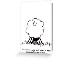 Sheepy perspective Greeting Card