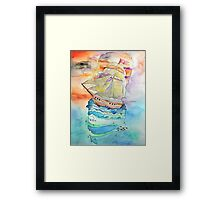 The Calm Below Framed Print