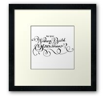 Do You Wanna Build A Snowman? Framed Print