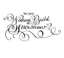 Do You Wanna Build A Snowman? Photographic Print