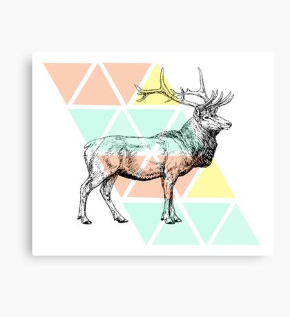 Abstract Elk Canvas Print