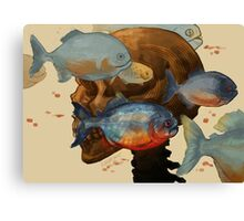 sleepin' with the fish Canvas Print