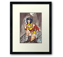 Freeze sicko! Framed Print