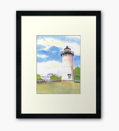 Marthas Vineyard Lighthouse  Framed Print