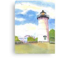 Marthas Vineyard Lighthouse  Canvas Print