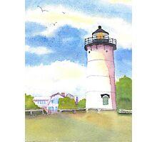 Marthas Vineyard Lighthouse  Photographic Print