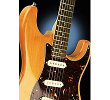 Fender Stratocaster Electric Guitar Natural Photographic Print