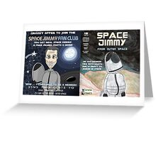 Space Jimmy Significant Mother music video - Comic Book scene Greeting Card