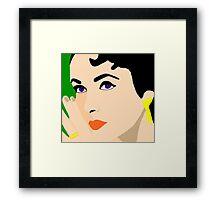 La Liz Taylor Framed Print
