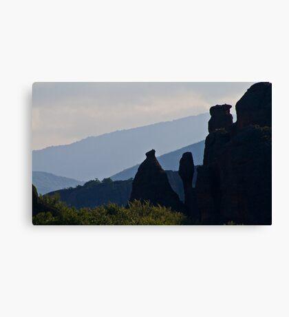 Vertical rocks Canvas Print
