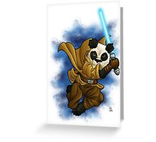Panda Jedi Greeting Card
