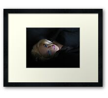 BARBIE IN BLACK Framed Print