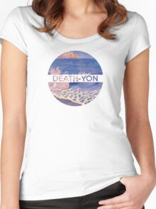 Death-Yon Pale Wave Tee Women's Fitted Scoop T-Shirt