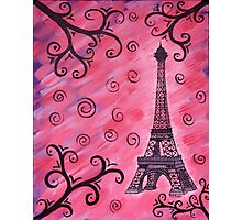 Eiffel Tower in Pink Photographic Print