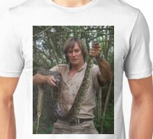 Austin Stevens with Burmese python Unisex T-Shirt