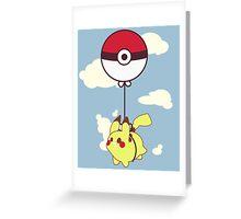 Pikachu Balloon Ride Greeting Card