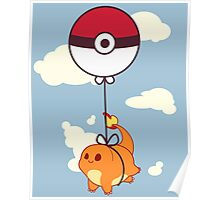Charmander Balloon Ride Poster