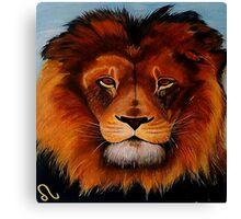 Unique painted lion Canvas Print