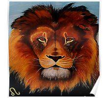 Unique painted lion Poster