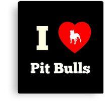 I Heart Pit Bulls Canvas Print
