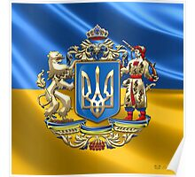Ukraine: Proposed Greater Coat of Arms & Flag Poster