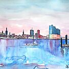 Hamburg Harbour Skyline And Elbe Philharmonic Hall by artshop77