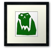 Orc head (Green) Framed Print