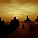 Borobudur at sunrise by Stephen Colquitt