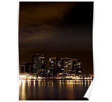 Melbourne Docklands at Night 6554 Poster