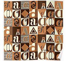"I'm ""A"" Pattern two (orange) Poster"
