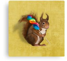A funny squirrel Canvas Print