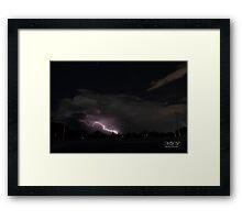 Lightning, Perth Western Australia Framed Print