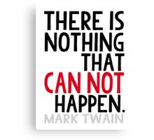 Mark Twain Book Lovers Inspirational Typography Canvas Print