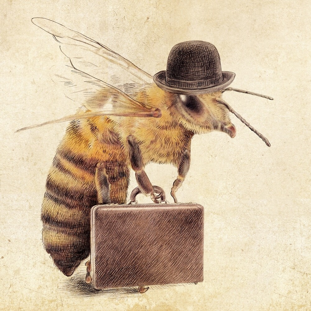 Quot Worker Bee Quot By Eric Fan Redbubble